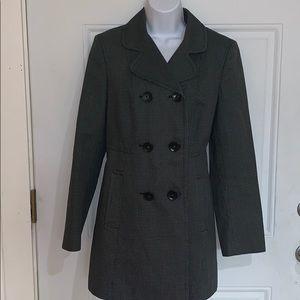 ANN TAYLOR LOFT BUTTON UP LINED DRESS COAT